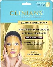Parfumuri și produse cosmetice Mască hidrogel cu ulei de argan pentru față - Clinians Hydrogel Mask With Argan Oil And Golden Powder