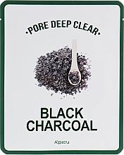 Parfumuri și produse cosmetice Mască de țesut pentru față - A'pieu Pore Deep Clear Black Charcoal Mask
