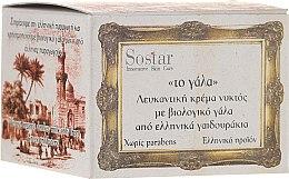 Parfumuri și produse cosmetice Cremă de noapte pentru față - Sostar Skin Whitening Night Cream with Organic Donkey Milk