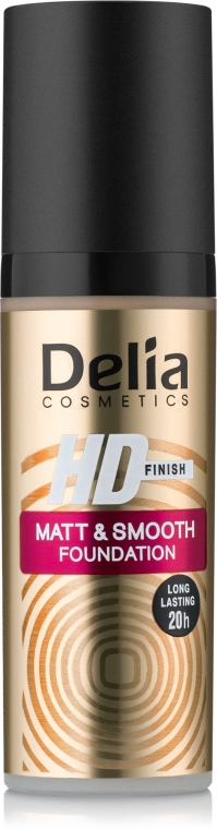 Fond de ten cu efect mat - Delia HD Finish Matt & Smooth Foundation