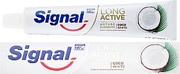 Parfumuri și produse cosmetice Pastă de dinți - Signal Long Active Nature Elements Coco White