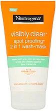 Parfumuri și produse cosmetice Mască de față - Neutrogena Visibly Clear Spot Proofing 2-in-1 Wash-Mask |