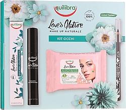 Parfumuri și produse cosmetice Set - Equilibra Love's Nature (eyeliner/1.1g + mascara/12ml + wipes/10pc)