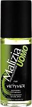 Parfumuri și produse cosmetice Deodorant - Malizia Uomo Vetyver Natural Deodorant Spray