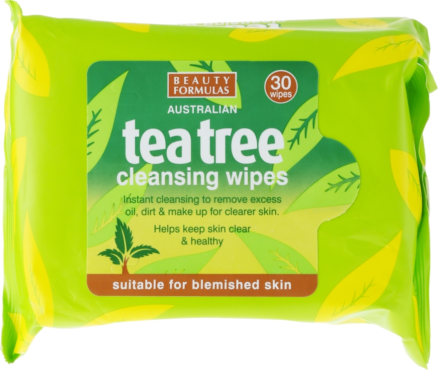 Șervețele demachiante pentru față - Beauty Formulas Tea Tree Cleansing Wipes