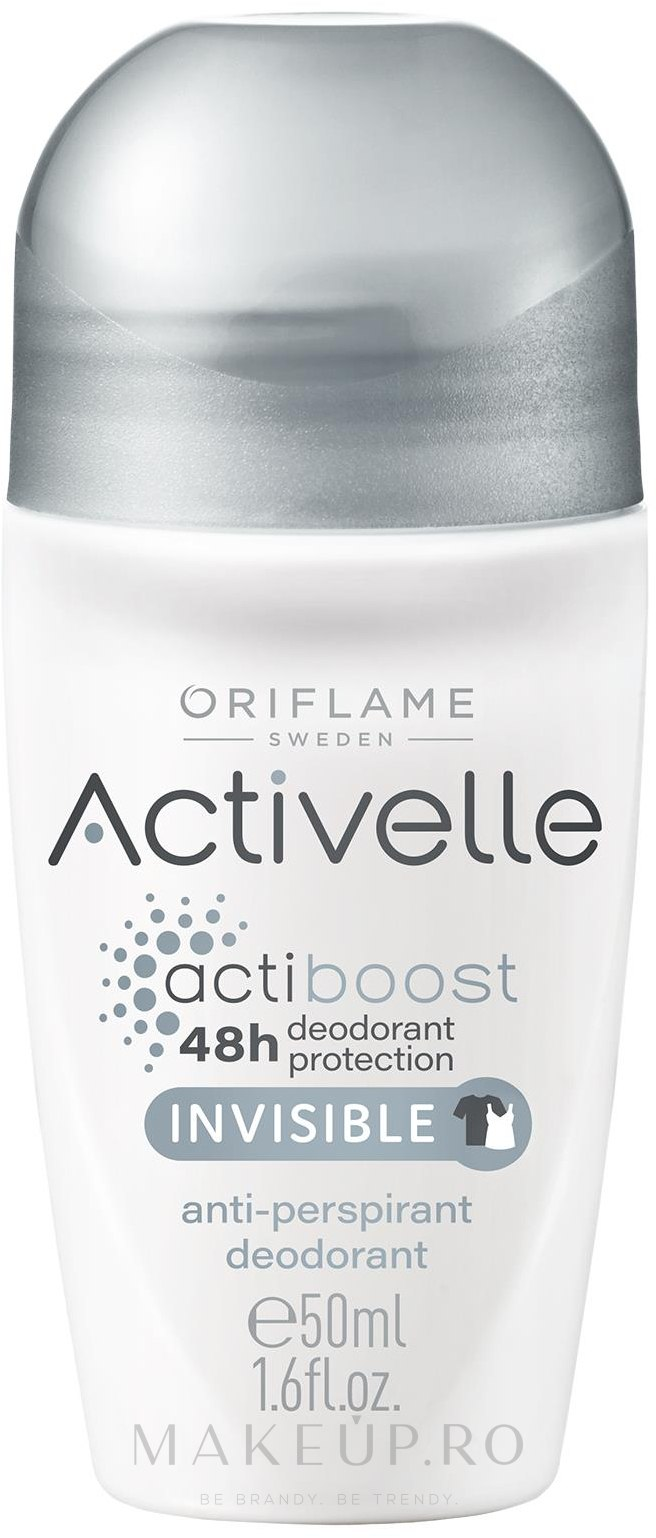 Deodorant-Antiperspirant Roll On 48h - Oriflame Activelle Actiboost Invisible — Imagine 50 ml