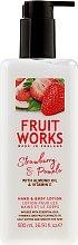 Parfumuri și produse cosmetice Loțiune pentru mâini și corp - Grace Cole Fruit Works Hand & Body Lotion Strawberry & Pomelo