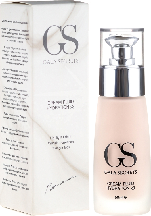 Cremă de față - Gala Secrets Cream Fluid Hydratation x3 — Imagine N1