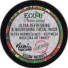Parfumuri și produse cosmetice Mască ultra revigorantă și nutritivă pentru față - Eco U Choose Nature Ultra Refreshing&Nourishing Face Mask