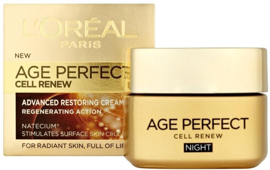 Cremă regenerantă de noapte - L'Oreal Paris Age Perfect Cell Renew Night Cream