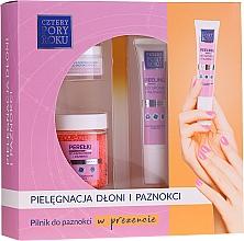 Parfumuri și produse cosmetice Set - Cztery Pory Roku (pearl/60ml + peel/15ml + oil/15ml + file/1pcs)