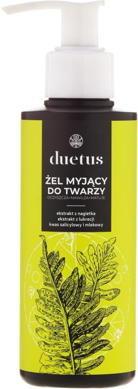 Gel eficient de curățare pentru față - Duetus Face Wash Gel — Imagine N1