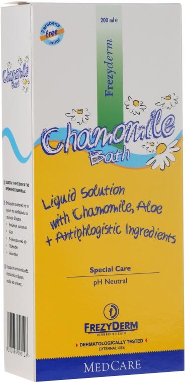 Spumă de baie cu extract de mușețel pentru bebeluși - Frezyderm Baby Chamomile Bath — Imagine N2