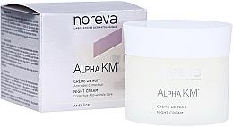 Parfumuri și produse cosmetice Cremă de noapte pentru față - Noreva Laboratoires Alpha KM Night Cream Corrective Anti-Wrinkle Care