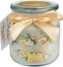 Parfumuri și produse cosmetice Lumânare aromată, 10x11 cm, 360g - Artman All the Best
