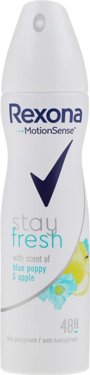 Deodorant-Spray - Rexona Blue Poppy & Apple Stay Fresh
