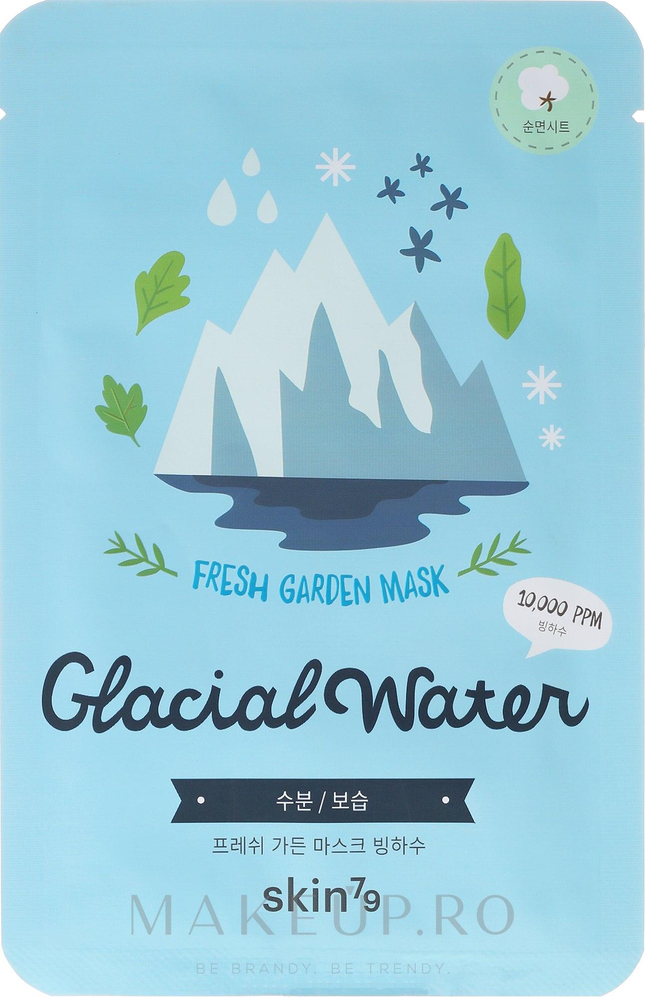 Masca folie de față - Skin79 Fresh Garden Mask Glacial Water — Imagine 23 g