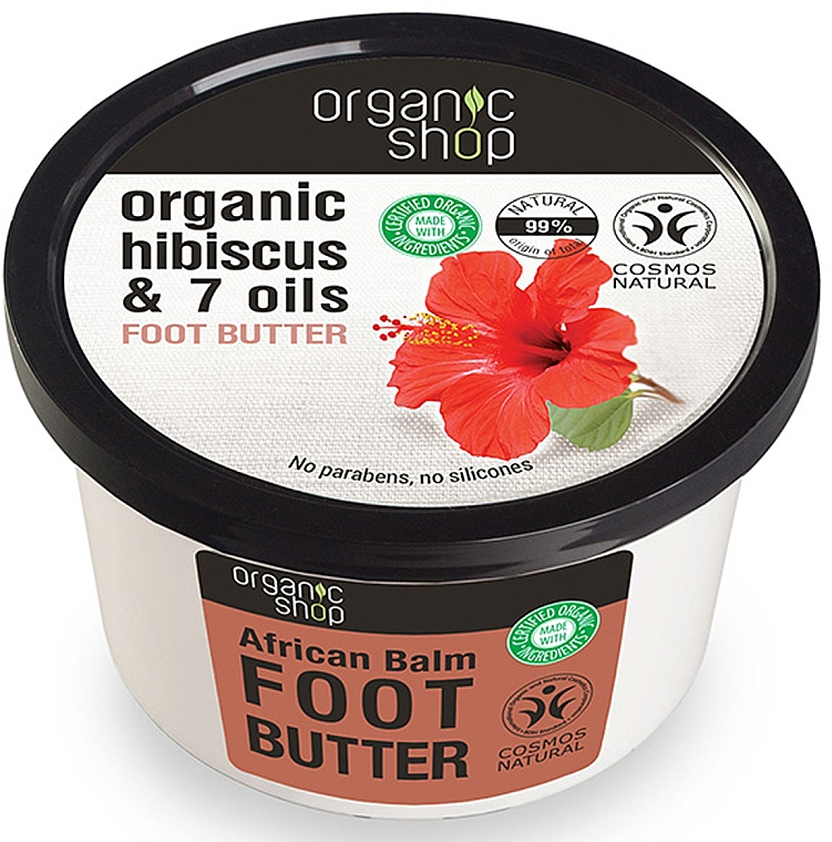 "Ulei de picioare ""Balsam African"" - Organic Shop Organic Hibiscus & 7 Oils Foot Butter — Imagine N1"