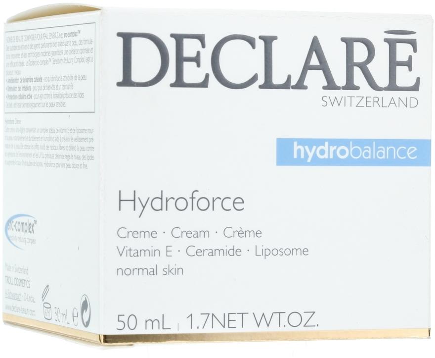 Cremă cu Vitamina E pentru față - Declare Hydroforce Cream — Imagine N1