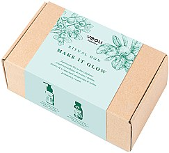 Parfumuri și produse cosmetice Set (edp/100 ml + b/lot/100 ml + sh/gel/100 ml + bag) - Veoli Botanica Ritual Box Make It Glow