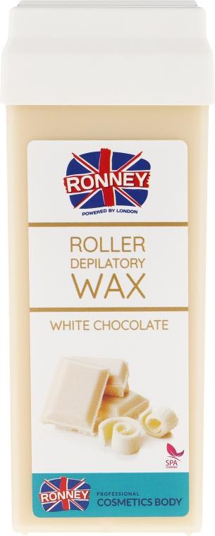 """Ceară depilatoare, cartuș """"Ciocolată albă"""" - Ronney Professional Wax Cartridge White Chocolate"""