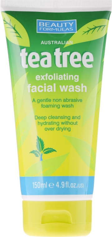 "Gel exfoliant pentru față ""Arbore de ceai"" - Beauty Formulas Tea Tree Exfoliating Facial Wash"
