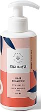 Parfumuri și produse cosmetice Șampon regenerant cu ulei de cânepă pentru păr uscat și deteriorat - Manaya Hair Shampoo With Hemp Oil