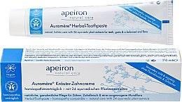 Parfumuri și produse cosmetice Pastă de dinţi recomandată în tratamente homeopate - Apeiron Herbal Toothpaste Homeopathic