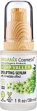 Parfumuri și produse cosmetice Ser cu efect de lifting pentru față - Organix Cosmetix Hemp Valley Eye Lifting Serum