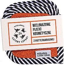 Parfumuri și produse cosmetice Discuri de bumbac refolosibile cu pânză de bambus, 5 buc. - Cztery Szpaki