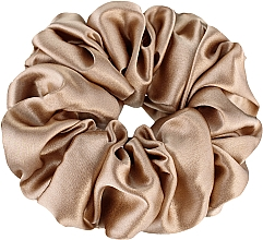 """Parfumuri și produse cosmetice Elastic din mătase naturală pentru păr, auriu """"Largy"""" - Makeup Largy Scrunchie Gold"""