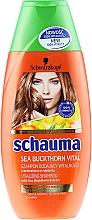 """Șampon """"Energie de cătină"""", pentru vitalitatea părului epuizat - Schwarzkopf Schauma Shampoo — Imagine N1"""