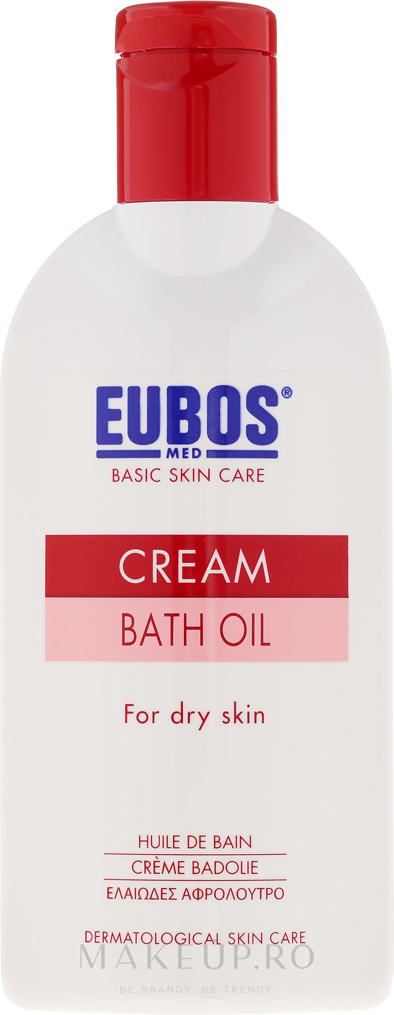 Ulei de baie - Eubos Med Basic Skin Care Cream Bath Oil For Dry Skin — Imagine 200 ml