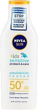 Parfumuri și produse cosmetice Loțiune de protecție solară pentru copii - Nivea Sun Kids Pure & Sensitive Sun Lotion SPF50+