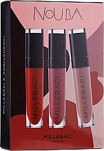 Parfumuri și produse cosmetice Set - NoUBA Millebaci Travel Set №3 (lipstick/3x6ml)