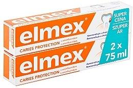 Parfumuri și produse cosmetice Set - Elmex Toothpaste Caries Protection (toothpaste/2x75ml)