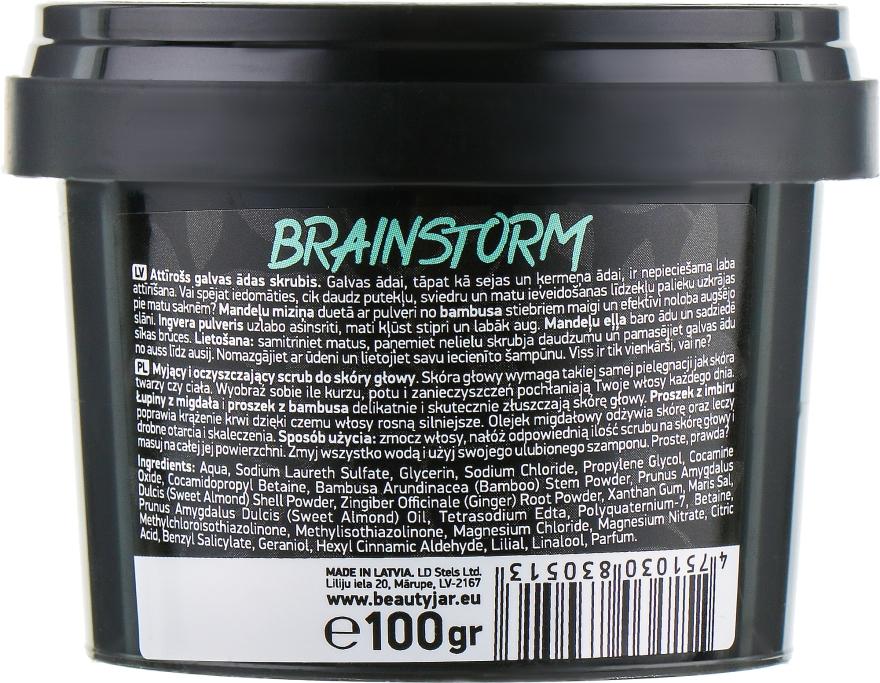 "Scrub pentru scalp ""Brain Storm"" - Beauty Jar Cleansing & Purifying Scalp Scrub — Imagine N3"