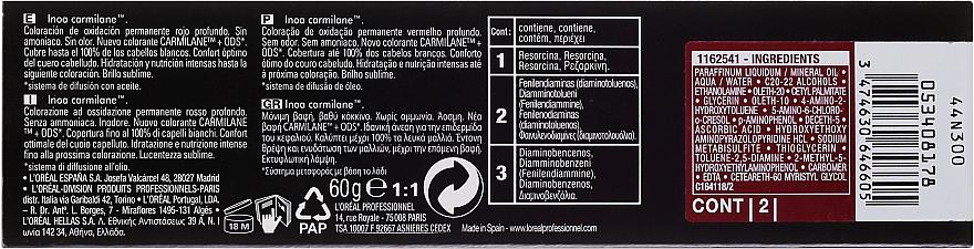 Vopsea rezistentă de păr, fără amoniac - L'Oreal Professionnel Inoa Carmilane — Imagine N3