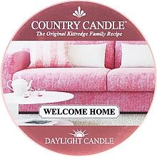 Parfumuri și produse cosmetice Lumânare de ceai - Country Candle Welcome Home Daylight