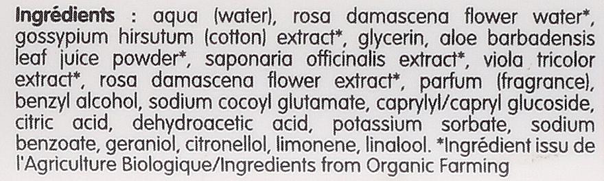 Apă micelară pentru pielea sensibilă - Coslys Facial Care Cleansing Water With Organic Rose Floral Water — Imagine N3