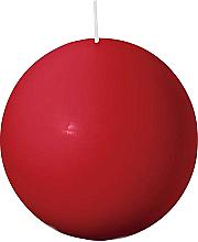 Parfumuri și produse cosmetice Lumânare rotundă, roșie, 80 mm - Bolsius Candle