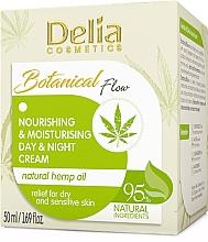 Parfumuri și produse cosmetice Cremă de față - Delia Botanical Flow Nourishing & Moisturizing Hemp Oil Day & Night Cream