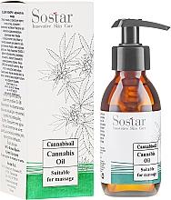 Parfumuri și produse cosmetice Ulei de masaj cu extract de cânepă - Sostar Cannabidiol Oil Cannabis Extract