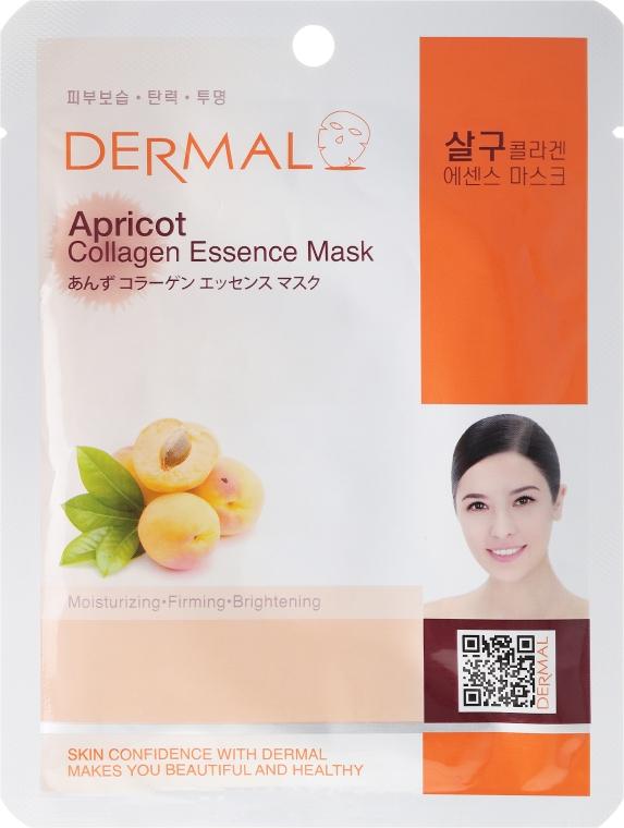 Mască cu extract de colagen și caise - Dermal Apricot Collagen Essence Mask — Imagine N1