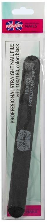 """Pilă de unghii, 100/180, neagră, """"RN 00286"""" - Ronney Professional — Imagine N1"""