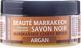 "Parfumuri și produse cosmetice Săpun natural negru ""Argania"" - Beaute Marrakech Savon Noir Moroccan Black Soap Argan"
