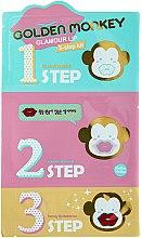 Parfumuri și produse cosmetice Set Produse pentru îngrijirea buzelor - Holika Holika Golden Monkey Glamour Lip 3-Step Kit