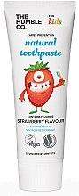 """Parfumuri și produse cosmetice Pastă naturală de dinți """"Pentru copii cu gust de căpșună"""" - The Humble Co. Natural Toothpaste Kids Strawberry Flavor"""