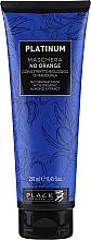 Parfumuri și produse cosmetice Mască cu extracte vegetale de migdale pentru neutralizarea nuanțele de portocaliu și cupru - Black Professional Line Platinum No Orange Mask With Organic Almond Extract