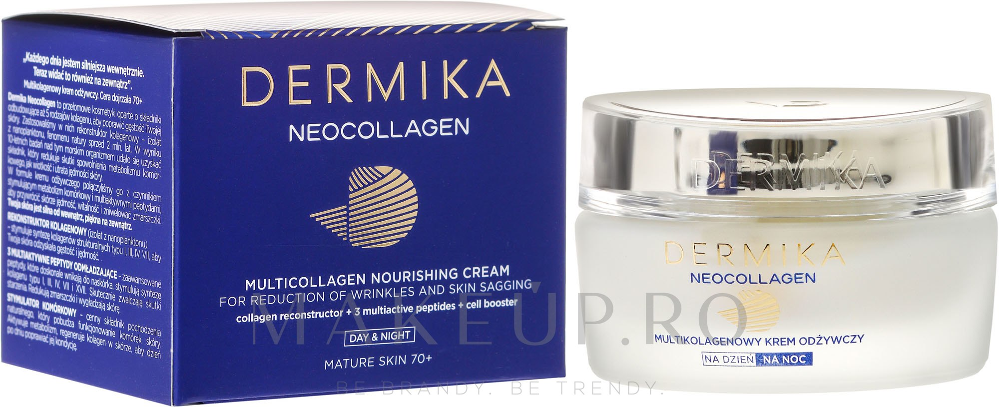 Cremă hidratantă pentru faţă - Dermika Neocollagen Cream +70 — Imagine 50 ml